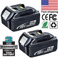 2 X For Makita 6.0AH 18V BL1860 BL1845 BL1840 BL1830 BL1815 Lithium Ion Battery