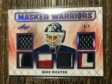 MIKE RICHTER 2017-18 LEAF Hockey Masked Warriors Jersey Patch SP #4/4 MW-14