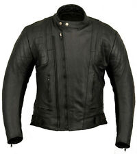US20 Mens Leather Motorcycle Motorbike Jacket 46 or XXL