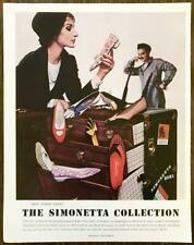 1961 Simonetta Shoes Collection PRINT AD New Resort Rave From Italy's First Lady