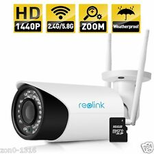 Reolink RLC-411WS 4MP Security IP Camera 4X Optical Zoom WIFI Outdoor Bullet Cam