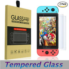 2X For Nintendo Switch Ultra Premium Slim Clear Tempered Glass Screen Protect hi