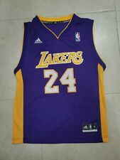 Adidas Kobe Bryant Los Angeles Lakers Jersey #24 Youth Sz Medium 10-12 NBA mvp