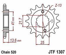 Pignone a 15 denti JT JTF1307.15 Ø interno 22/25 Passo 520