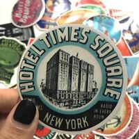 Lot of 55 Retro Vintage Travel Hotel Nostalgic Skateboard Luggage Decal Stickers