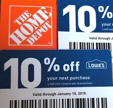 2 10% Off Home Depot Vouchers Exp January 15, 2019 Ace Menards Not Lowes