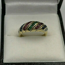 18ct Gold Diamond,Ruby,Emerald & Sapphire Ladies Ring.  Goldmine Jewellers.