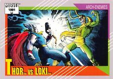 THOR VS. LOKI / Marvel Universe Series 2 (Impel 1991) BASE Trading Card #120