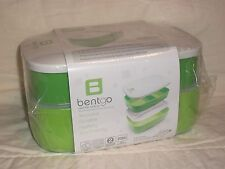 BENTGO Stackable All in One Lunch Box Container Set with Utensils NIP