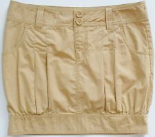 Catch My ! Khaki Paperbag Banded Hem Skirt Sz 7