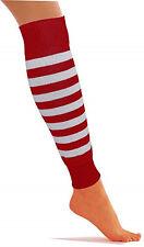 Where's Wally Wenda Fancy Dress Striped Red White Leg Warmers Socks