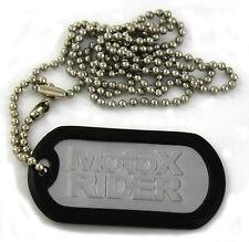 Nuevo Aluminio Motocross Mx Off Road #motox Rider Dogtag Llavero neckchain