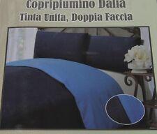 Parure SACCO COPRI PIUMINO Federa Piumone GIORGIO CAMANI Tinta Unita DOUBLE FACE