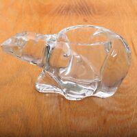 Vintage Glass Polar Bear Votive Candle Holder