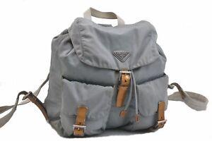 Authentic PRADA Nylon Backpack Light Blue B6264