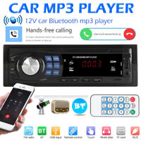 Single 1Din Car Stereo MP3 Player In Dash Head Unit Bluetooth USB AUX FM Radio
