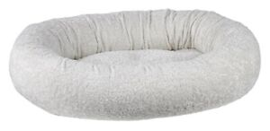 Bowsers Pet Luxury Cushioned Oval Donut Dog Bed Faux Sheepskin Fabric