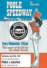 Speedway Programme>POOLE PIRATES v HALIFAX DUKES Apr 1976