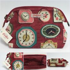 CATH KIDSTON Burgundy Red Clocks Cotton Cosmetic Bag Zip Pouch BNWT +CK Gift Bag