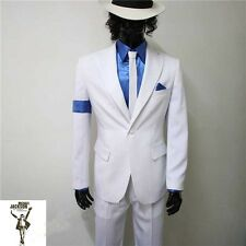 Michael Jackson Smooth Criminal Tuta Set cappello pantaloni,camicia,bretelleMJ06
