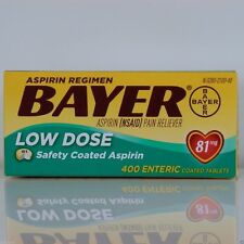 Bayer Low Dose Aspirin Regimen 400 Tablets 81 mg enteric coated