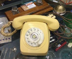 Vintage Cream Rotary Dial Telephone