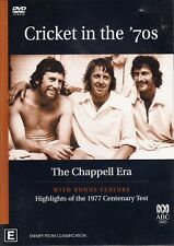 CRICKET in the '70s The CHAPPELL Era & Highlights 1977 Test DVD NEW 70's Reg 4