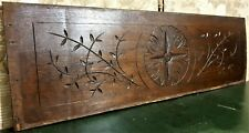 Rosette decorative wood carving pediment Antique french architectural salvage