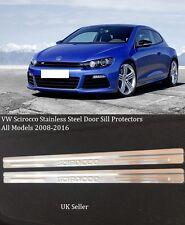 VW SCIROCCO 2 DOOR 2008-2015 STAINLESS STEEL DOOR SILL PLATES WITH EMBOSSED LOGO