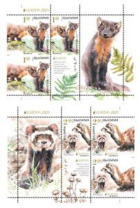EUROPA Cept BULGARIA 2021 FAUNA Protected Animals (Pre order !!!) - booklet MNH