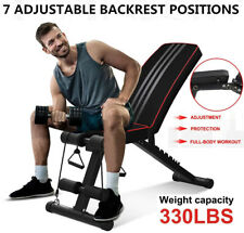 Adjustable Weight Bench Foldable Workout Bench Home Gym Exercises Incline/Declin