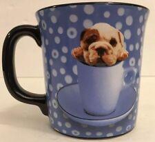 Mug Cup Bulldog Dog Puppy Encore Group Keith Kimberlin Blue 12oz Coffee