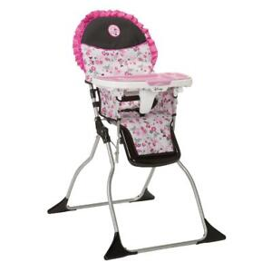 New Baby Minnie Mouse High Chair Simple Fold Plus 3-Position Tray