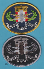FBI HAZARDOUS DEVICES BOMB TECH POLICE 2 PATCH SET