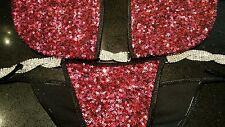 NPC/IBFF Fuschia  Pink Sequin Bikini Competition Suit