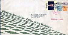 Mexico cover, abt 1971, Office of the President Newsletter (STAMPS, POSTAGE)