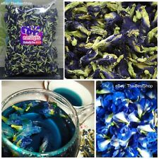 Thai Natural Dried Butterfly Pea Tea, Pure Blue Flowers Tea Healthy Drink 100%