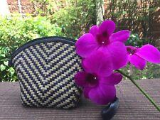 UniqueThai Cute Wicker Handicrafts Vintage Krajud Vine Fern Zipped Purse Wallet