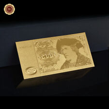 WR 500 DM Deutsche Mark Schein Gold Deutsch Banknote 1970er Jahre Gold Design
