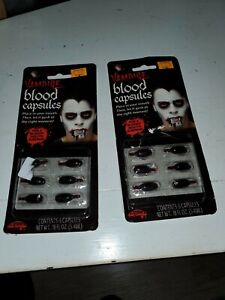 Fun World VAMPIRE Blood Capsules 2 Packages. New.