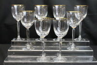 """New Set of 8 Pc. LENOX Classic Federal Gold Stemware 8"""" Water Goblets MINT"""