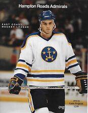 1991-92 Hampton Roads Admirals vs Richmond East Coast Hockey League game program