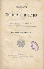 NOZIONI DI ZOOLOGIA E BOTANICA di Francesco Virgilio - UTET inizi '900?