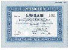 Lahmeyer AG 2500DM Frankfurt 1976