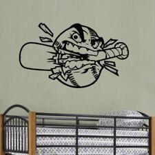Baseball Smashing Bat Wall Decal Art