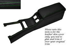 GREEN STITCH CENTRE CONSOLE COVER&ARMREST LEATHER COVERS FITS TOYOTA SUPRA MK3