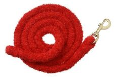 Tough 1 red fuzzy 8 1/2' lead rope horse tack equine 51-980