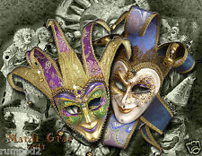 Poster Mardi Gras / 2014 New Orleans/11x14 inches/Masks/Beads/Bourbon Street