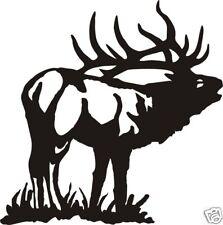 LARGE BUGLEING ELK DECAL bow arrow call hunt
