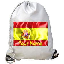 SPANISH / SPAIN FLAG PERSONALISED GYM  / SWIMMING BAG - GREAT KIDS GIFT & NAMED